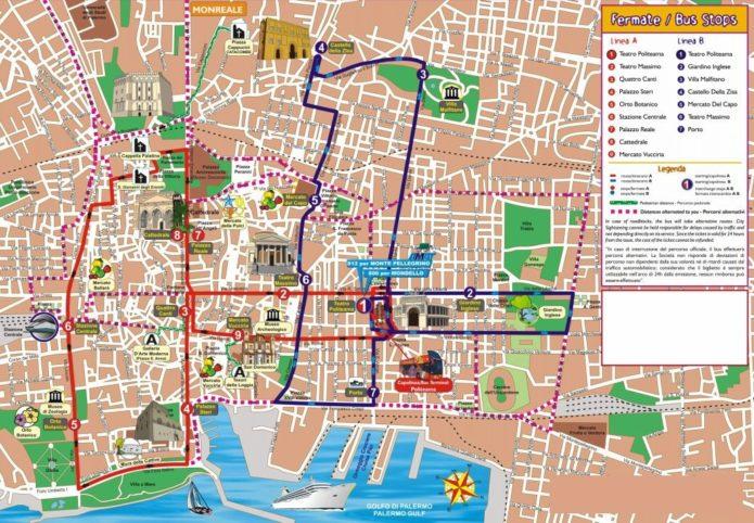 туристическая карта милана