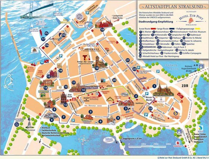 туристическая карта риги
