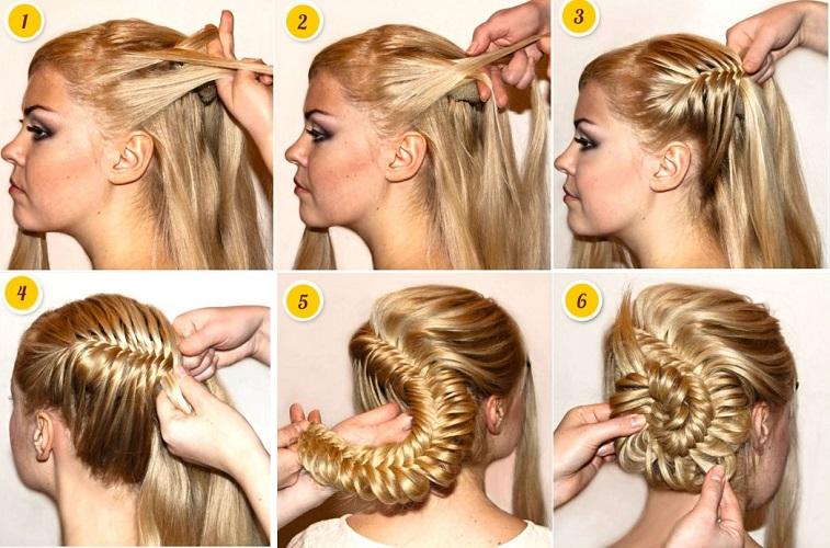 Как делать причёски улитка