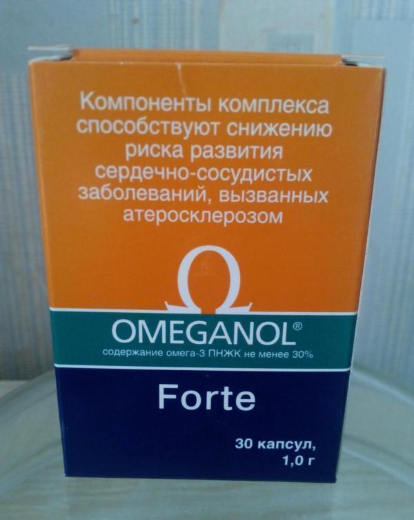 Упаковка Омеганола Форте