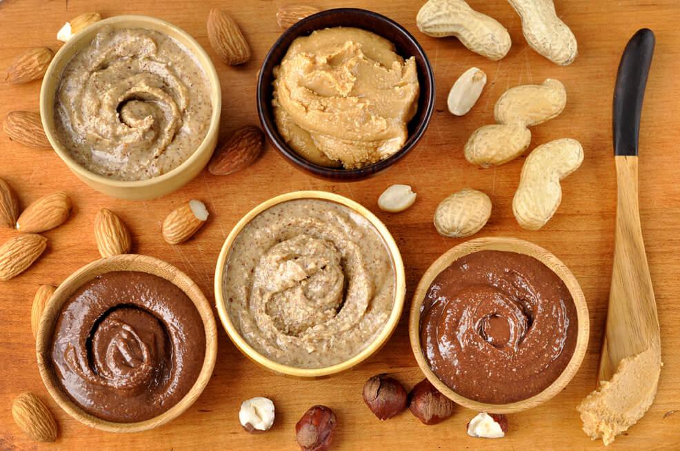 Урбеч из разных орехов и семян