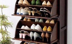 Узкая обувница