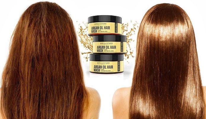 Воздействие арганового масла на волосы: до и после