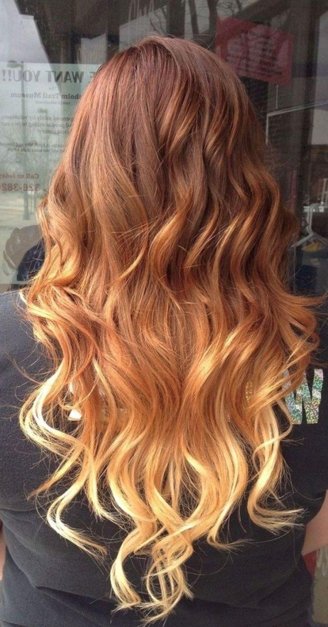 Цвет волос с амбре