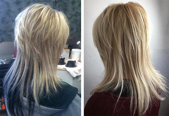 стрижка итальянка на прямых длинных волосах