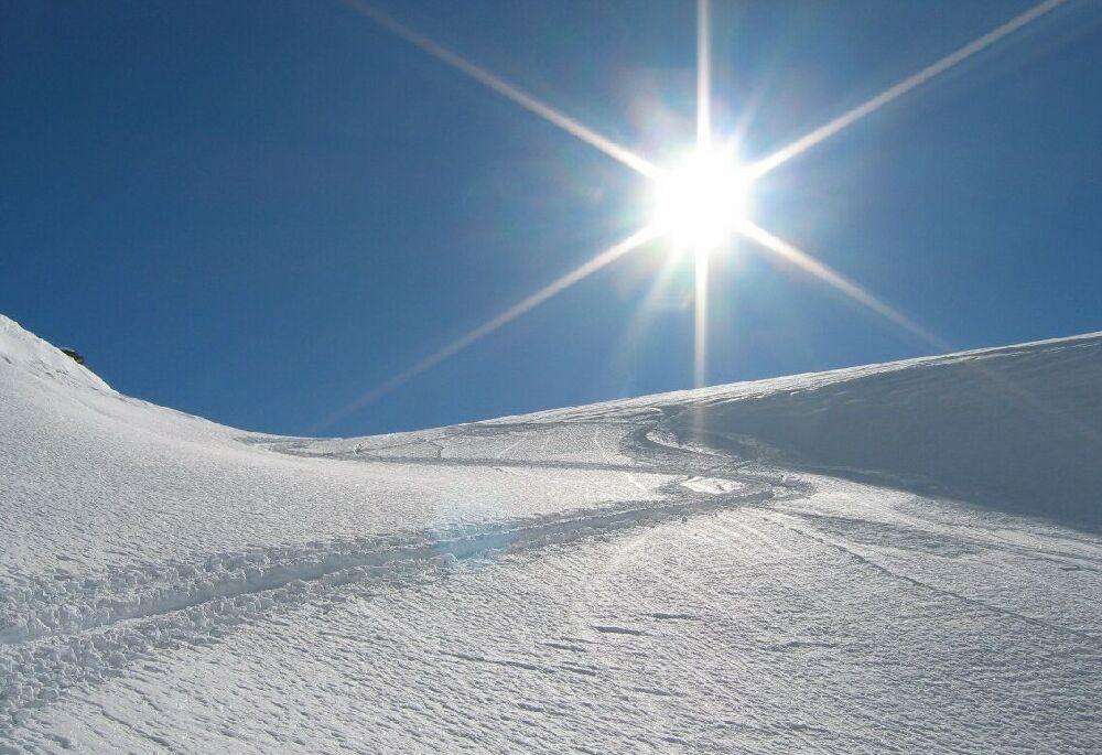 Яркое солнце зимой