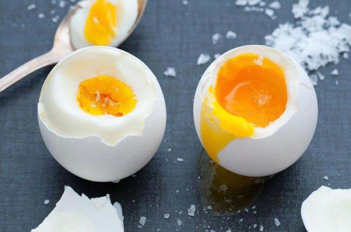 Яйца всмятку