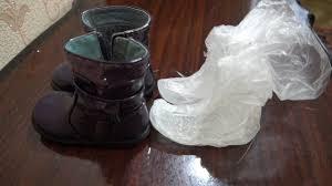 Как выглядят пакеты со льдом после того, как их выняли с ботинок
