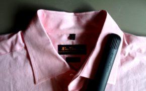 Захват края рубашки щипцами для волос