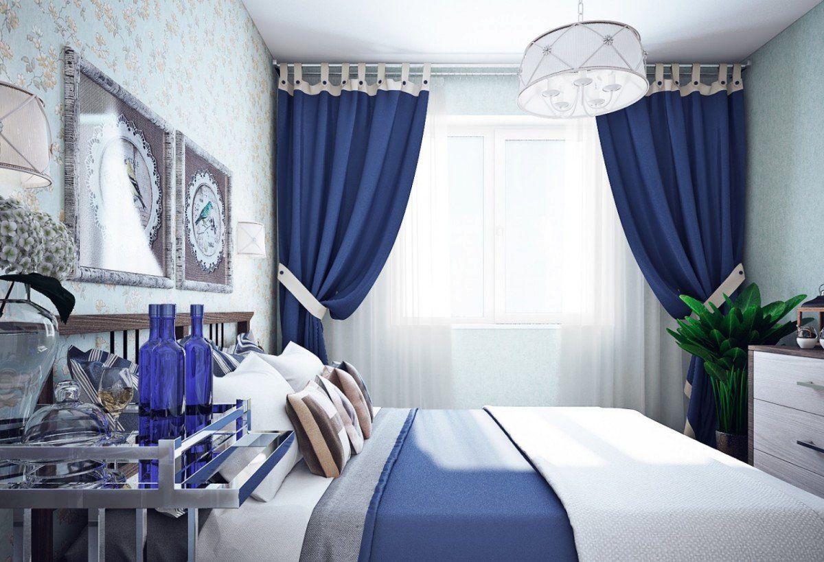 занавески в спальне