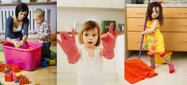 Заставить убирать в квартире