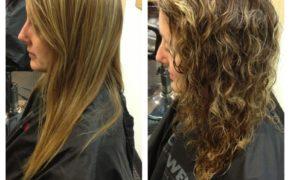 Завитые милированные волосы, фото до и после