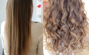 химическая завивка на длинных волосах с ослабленными кончиками
