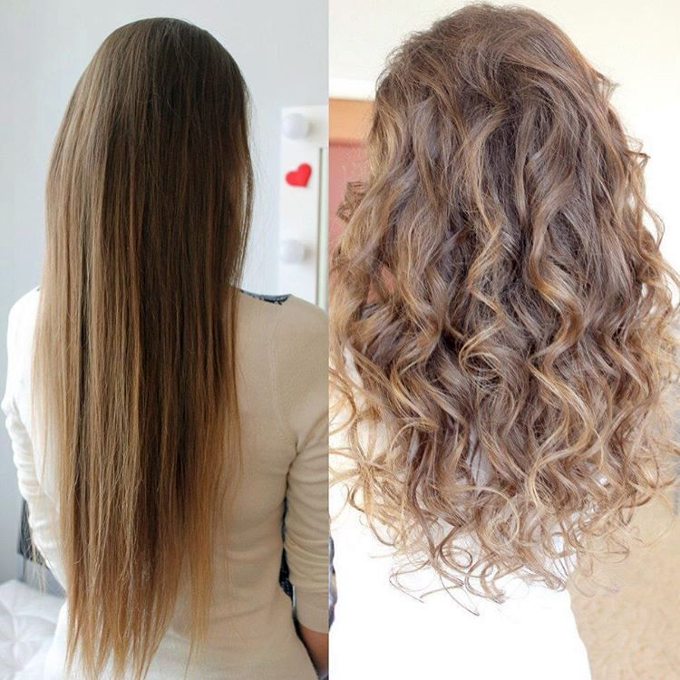 Химия на средние волосы до и после фото