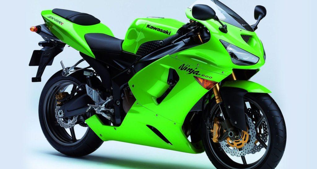 Зелёный мотоцикл