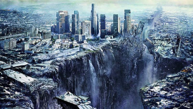 Землетрясение в городе