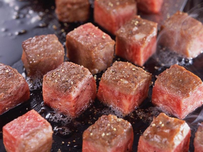Жарка мяса кубиками