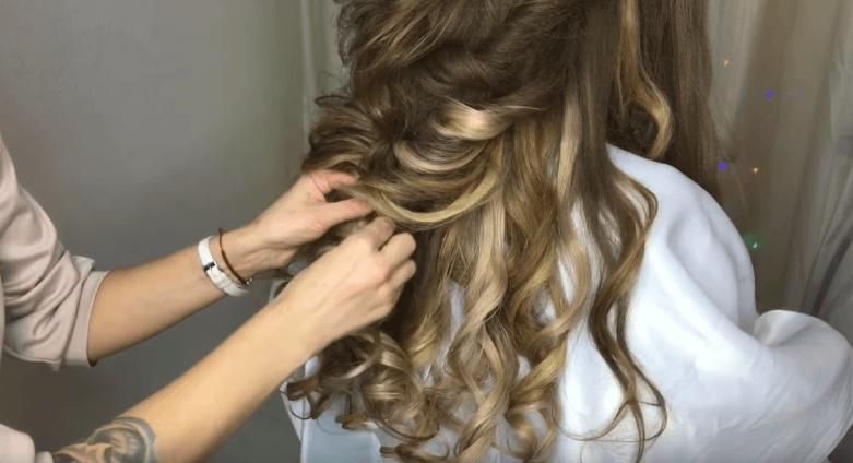 жгут из волос видео