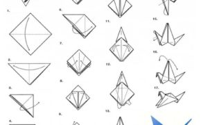 Журавль в технике оригами