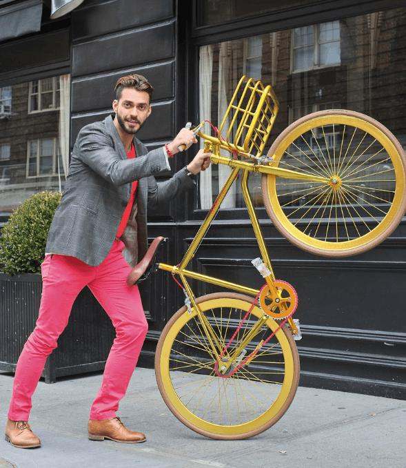 Золотистый велосипед