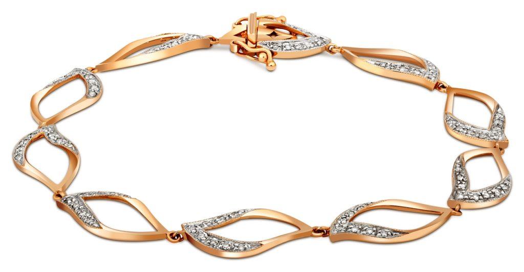 Золотой браслет с бриллиантами